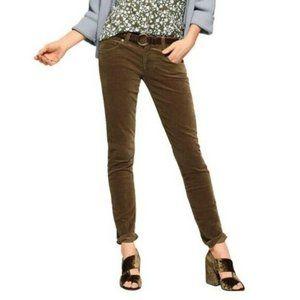 CAbi Olive Green Skinny Corduroy Jeans 3567